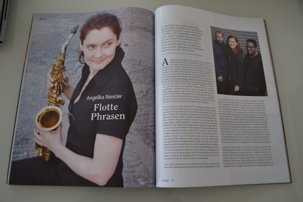 Foto von Saxofonistin Angelika Niescier
